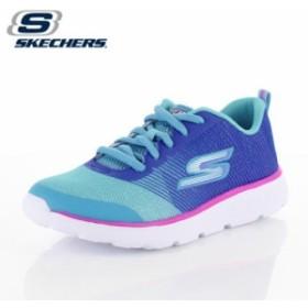 キッズ スニーカー スケッチャーズ SKECHERS GORUN400-SHIMMER ZOOMS 81353-BLAQ ガールズ 子供靴 ブルー ジュニア
