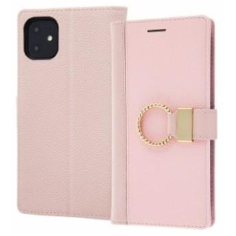 iPhone11 ケース 手帳型 手帳型ケース 手帳型 リング付き femine / ピンク iphone 11 アイフォン11 カバー