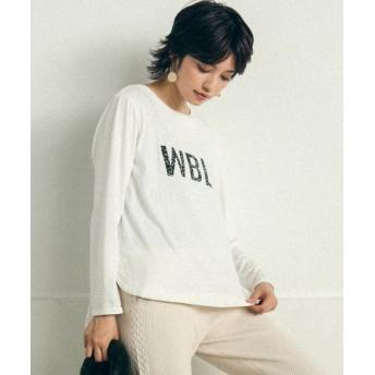 リップスター WBLロゴロングTシャツ レディース オフホワイト M 【LIPSTAR】