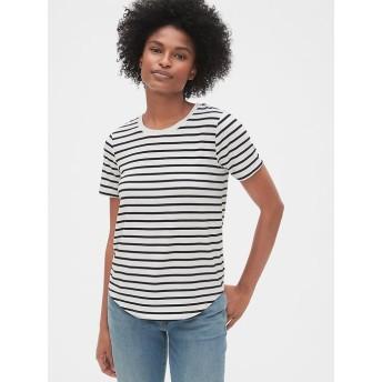 Gap モダールジャージ ストライプクルーネックTシャツ