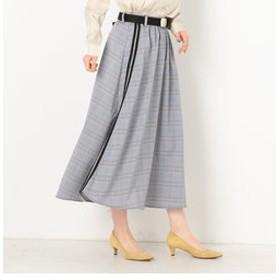 【archives:スカート】チェックライン入りギャザースカート