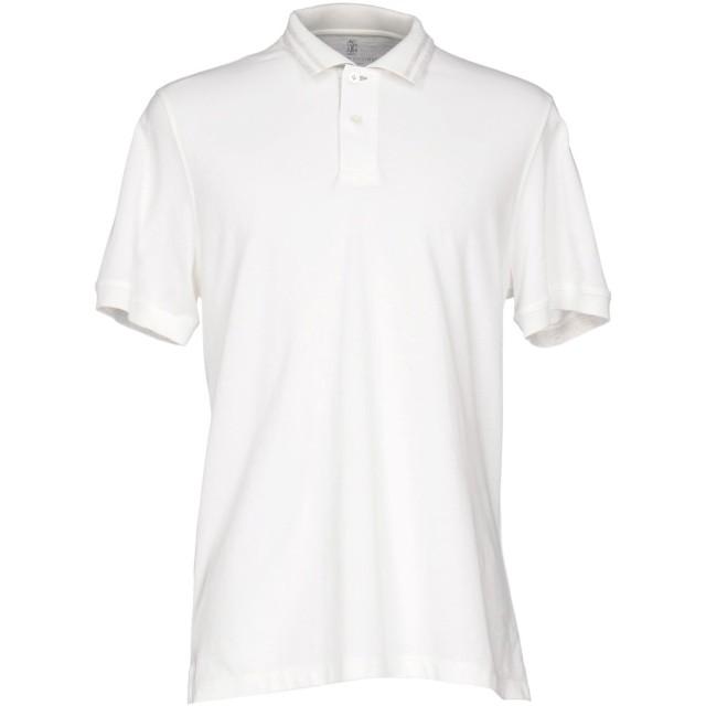 《期間限定セール開催中!》BRUNELLO CUCINELLI メンズ ポロシャツ アイボリー S コットン 100%