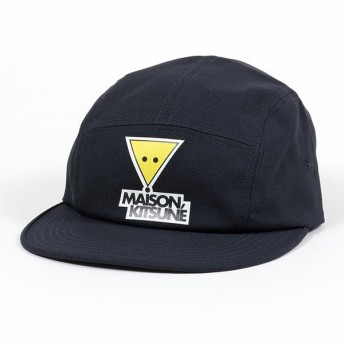 MAISON KITSUNE メゾンキツネ DU06105WW0007 5P TRIANGLE FOX PRINT 5パネル キャップ 帽子 DARK-NAVY メンズ