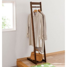 木製コートハンガー(サイズが選べる) - セシール ■カラー:ダークブラウン アイボリー ■サイズ:B(幅40),C(幅50)