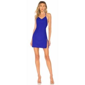 スーパーダウン superdown レディース ワンピース ワンピース・ドレス Eden Cowl Neck Slit Dress Royal Blue