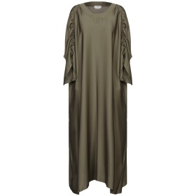 《セール開催中》BALLANTYNE レディース 7分丈ワンピース・ドレス ミリタリーグリーン 42 シルク 93% / ポリウレタン 7%