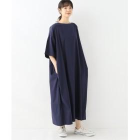 journal standard luxe プレミアム クロス Side Tuck Dress◆ ネイビー フリー