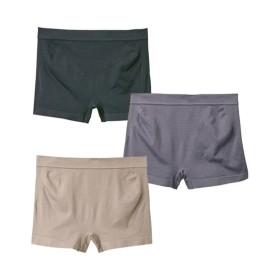 【WEB限定】伸びーるのにヒップサポート 成型1分丈ショーツ3枚組 サポート・シェイプショーツ,Panties