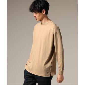 417 EDIFICE KANGOL / カンゴール ×417 別注 ONE POINT ロンスリーブ Tシャツ ベージュ L