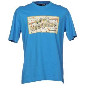 《期間限定 セール開催中》LOVE MOSCHINO メンズ T シャツ アジュールブルー S 100% コットン