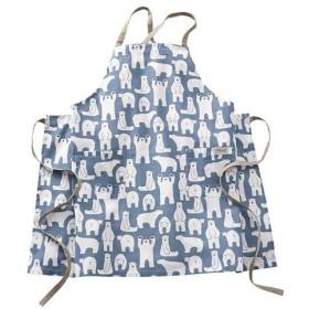 インド綿のエプロン - セシール ■カラー:ブルー/シロクマ