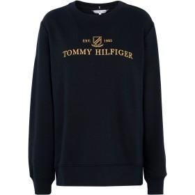 《期間限定セール開催中!》TOMMY HILFIGER レディース スウェットシャツ ダークブルー XS コットン 65% / ポリエステル 35%