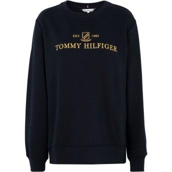 《セール開催中》TOMMY HILFIGER レディース スウェットシャツ ダークブルー M コットン 65% / ポリエステル 35%