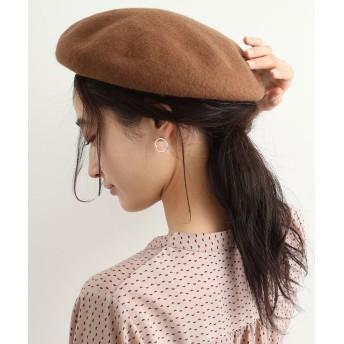 ビス フェルトベレー帽 レディース キャメル(25) F 【ViS】