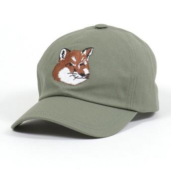 MAISON KITSUNE メゾンキツネ DU06109WW0007 FOX HEAD PATCH ベースボールキャップ 帽子 フォックス刺繍 KHAKI レディース