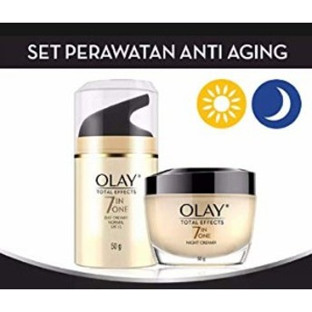 OLAY TOTAL EFFECTS 7IN ONE NORMAL UV SPF15【DAY CREAM】50g+OLAY TOTAL EFECTS NIGHT CREAM 【NIGHT CREAM】50g