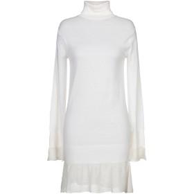 《期間限定セール開催中!》SACAI レディース ミニワンピース&ドレス ホワイト 1 ウール 100%
