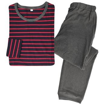 【レディース】 Tタイプパジャマ(男女兼用) - セシール ■カラー:レッド ■サイズ:L