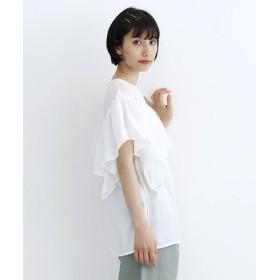 メルロー アシメヨークフリルブラウス レディース ホワイト FREE 【merlot】