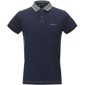 《期間限定セール開催中!》HENRY COTTON'S メンズ ポロシャツ ダークブルー S コットン 92% / ポリウレタン 8%