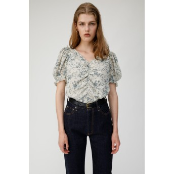 マウジー moussy VINTAGE FLOWER PUFF SLEEVE TOP (アイボリー)