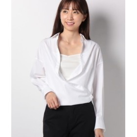 (ANAYI/アナイ)タイプライター2WAYシャツ/レディース ホワイト