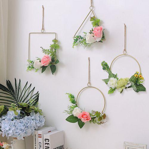 【超取399免運】北歐仿真植物掛飾 鐵藝吊飾 創意空中掛飾 牆面裝飾
