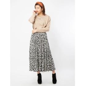 【セシルマクビー/CECIL McBEE】 小花柄消しプリーツスカート