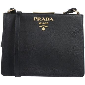 《9/20まで! 限定セール開催中》PRADA レディース メッセンジャーバッグ ブラック 牛革(カーフ)