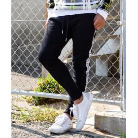 【20%OFF】 SHIFFON 163(イチロクサン) ロゴラインパンツ メンズ ブラック M 【SHIFFON】 【セール開催中】