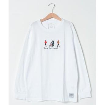 イッカ ジンブツ刺繍ロンT(120~160cm) レディース オフホワイト 160cm 【ikka】