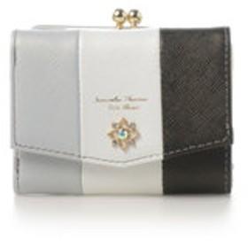 【Samantha Thavasa Petit Choice:財布/小物】フラワーモチーフシリーズマルチカラーバージョンがま口折財布