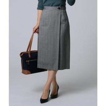 UNTITLED / アンタイトル ワイドストライプ柄スカート