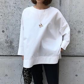 <tinoir/ティノアール> バックリボンスモックシャツ(スモールサイズ) white 【三越・伊勢丹/公式】