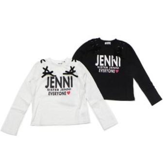 SISTER JENNI シスタージェニィ 子供服 19秋冬 肩編上げロゴPT長袖Tシャツ je02195235