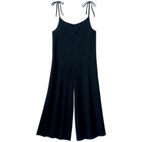 50%OFF【レディース】 肩リボンオールインワン - セシール ■カラー:ブラック ■サイズ:S,M,L