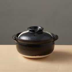 有種創意 - 日本萬古燒 - 珠玉點點雜炊土鍋5.5號 - 黑(0.9L)