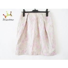 マルティニーク martinique スカート サイズ2 M レディース ベージュ×グリーン×ピンク   スペシャル特価 20191109