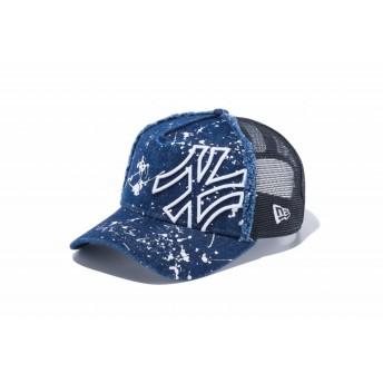 NEW ERA ニューエラ キッズ 9FORTY A-Frame トラッカー バタリオン ニューヨーク・ヤンキース インディゴデニム × スノーホワイト アジャスタブル サイズ調整可能 ベースボールキャップ キャップ 帽子 男の子 女の子 52 - 55.8cm 12108324 NEWERA メッシュキャップ