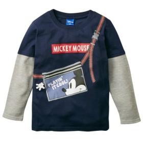 【ディズニー】重ね着風長袖Tシャツ(男の子 ベビー服 子供服) Tシャツ・カットソー