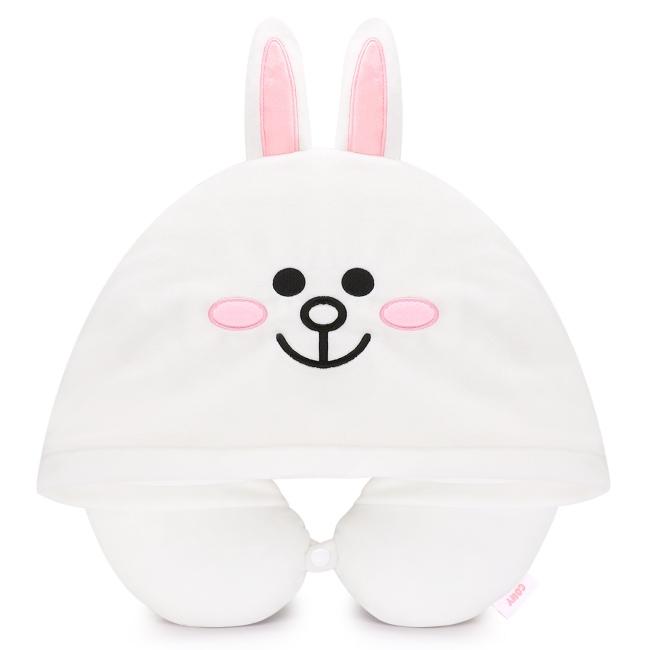 LINE FRIENDS 連帽造型U型枕 兔兔