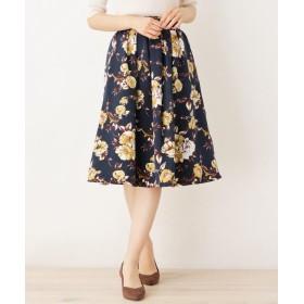 ITS' DEMO(イッツデモ) グログラン花柄スカート
