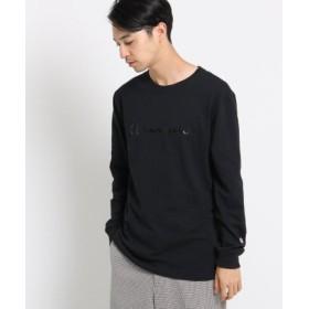 (OPAQUE. CLIP/オペークドットクリップ)Champion コットン(綿)長袖Tシャツ/メンズ ブラック(019)