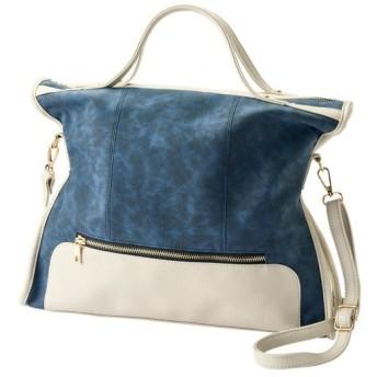 60%OFF2WAYバッグ(A4サイズ対応) - セシール ■カラー:ネイビー系