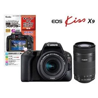 CANON/キヤノン EOS Kiss X9(ブラック)・ダブルズームキット+液晶プロテクターセット