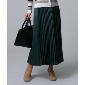 UNTITLED(アンタイトル) スウェード調サテン素材プリーツスカート
