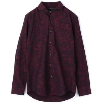 メンズビギ EASY CARE フラワージャガードシャツ メンズ ネイビー SS 【Men's Bigi】