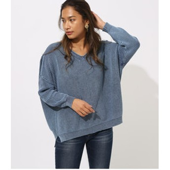 【AZUL by moussy:トップス】STONE WASH V/N TOPS