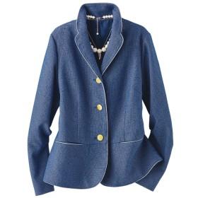 ベルーナ ツイード素材テーラードジャケット ブルー系 M レディース