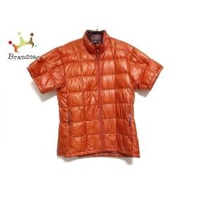 モンベル mont-bell ダウンジャケット サイズM メンズ オレンジ ジップアップ/半袖/春・秋物 新着 20190819